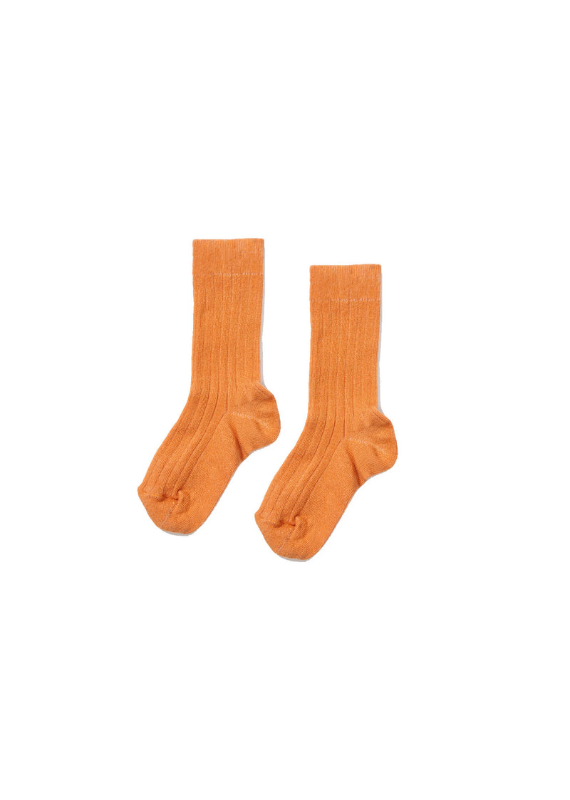 Girls Apricot Knitted Sock