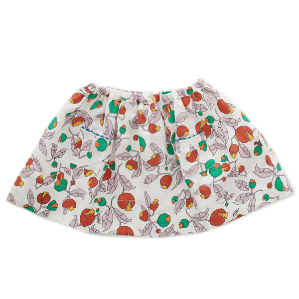 Girls White Flowers Skirt