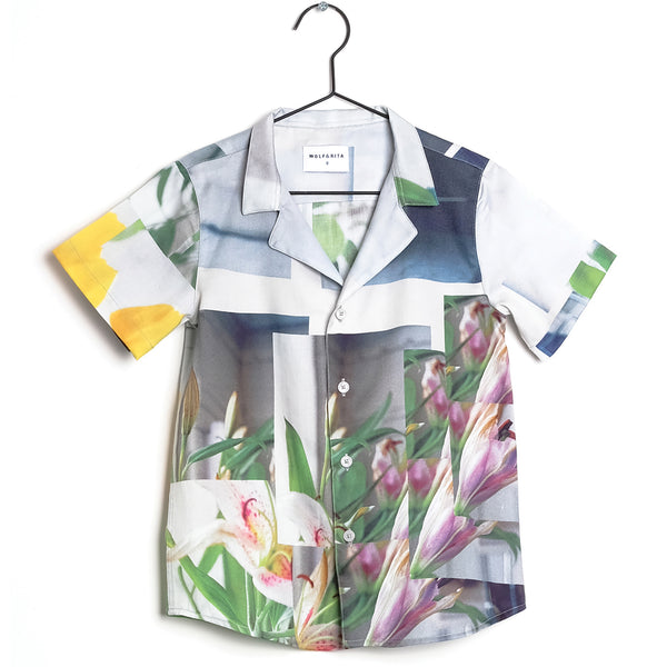 Girls & Boys Printed Cotton Shirt