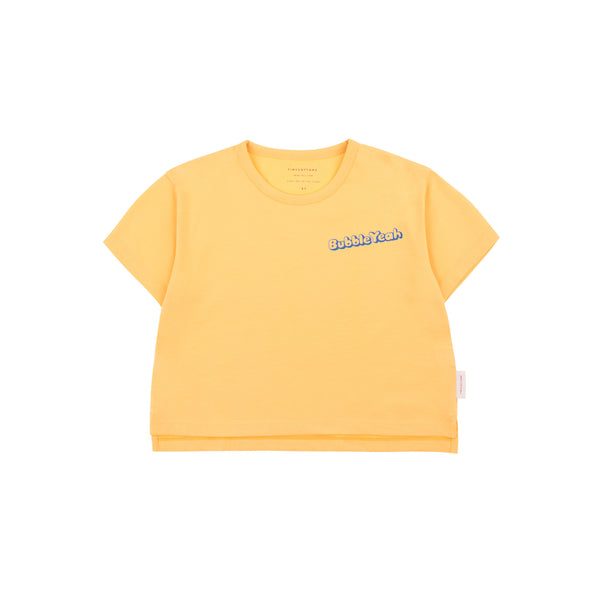 Girls Yellow Cotton T-shirt