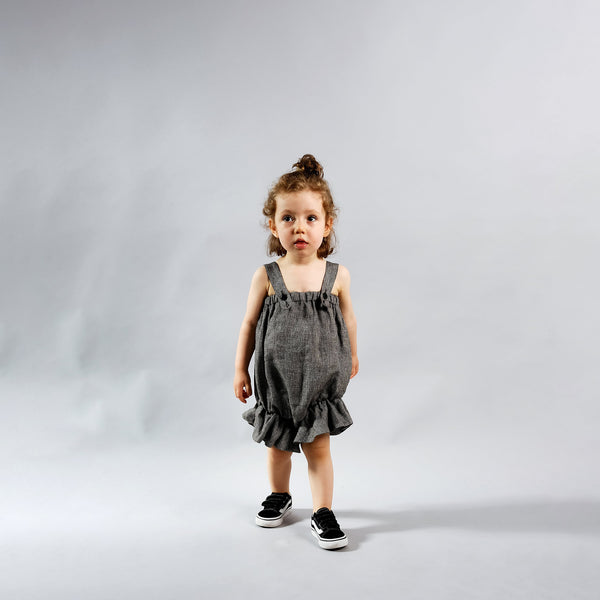 Baby Black Linen Jumpsuit