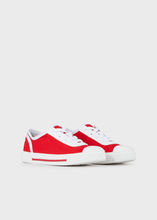 Boys Red Canvas Shoes