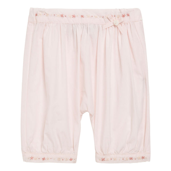 Baby Girls Light Pink Cotton Embroidered Trims Trousers - CÉMAROSE | Children's Fashion Store