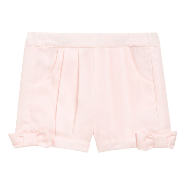 Baby Girls Light Pink Bow Trims Cuffs Shorts - CÉMAROSE | Children's Fashion Store
