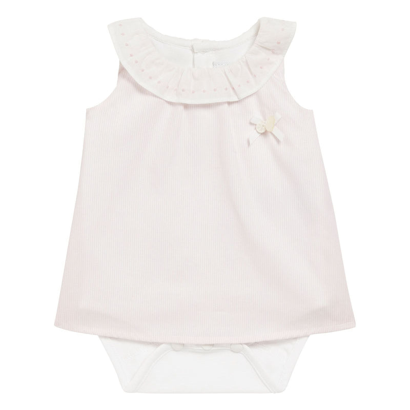 Baby Girls Light Pink Cotton Bow Trims  Dress - CÉMAROSE | Children's Fashion Store