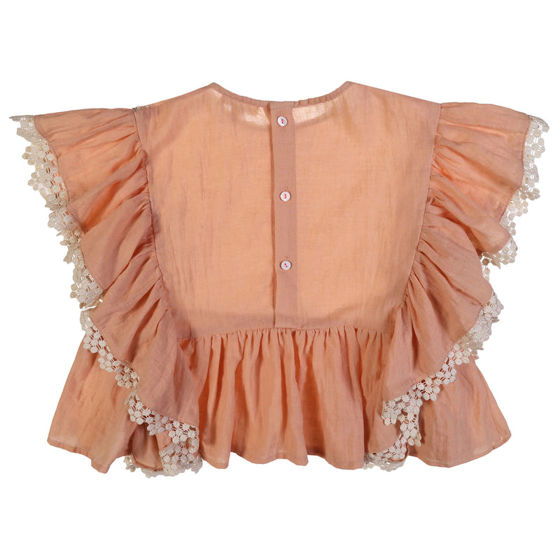 Girls Pink 'Ines' Top