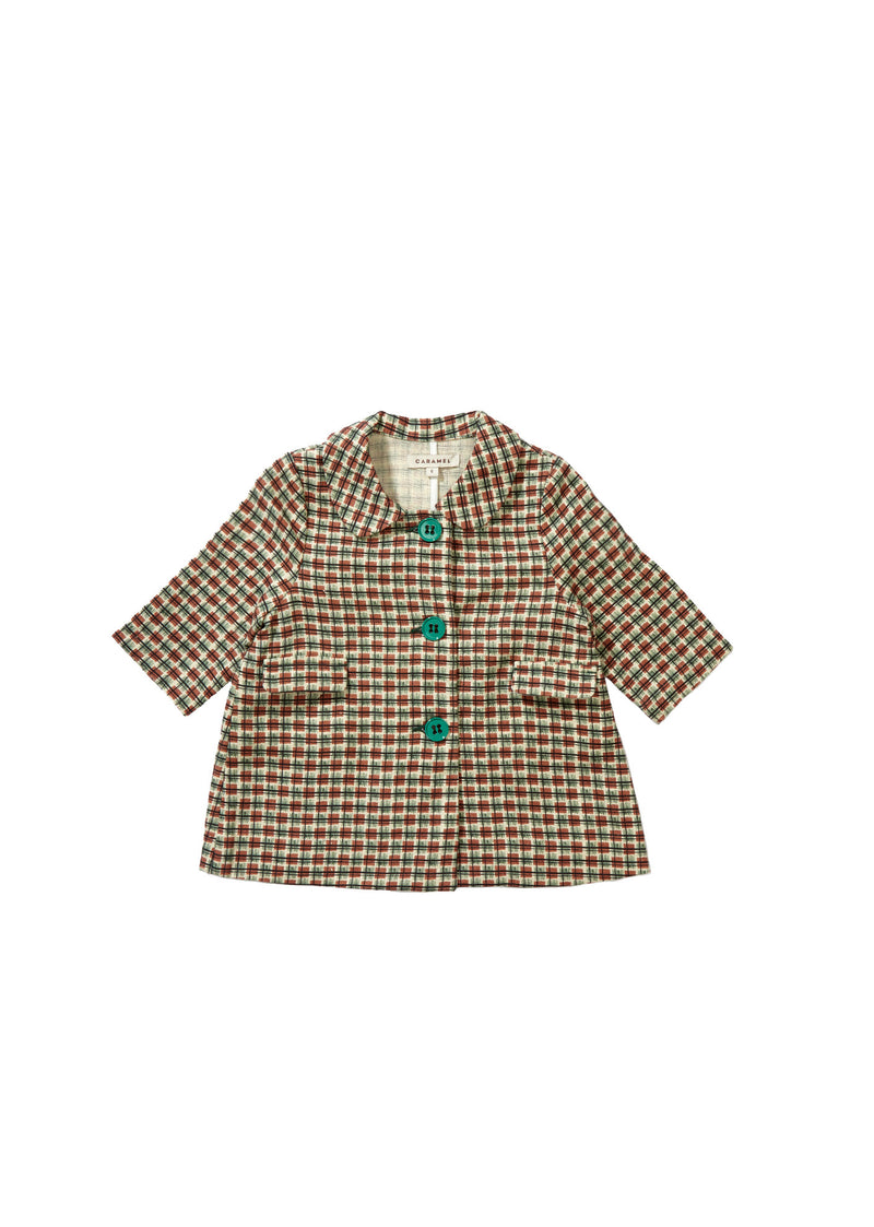 Baby Green Checked Coat