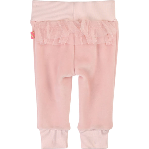 Baby Girls Pink Lace Trousers