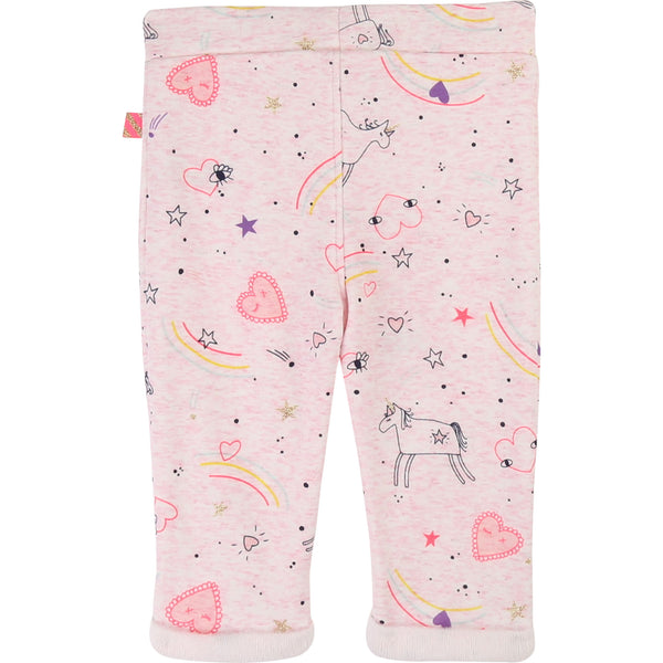 Baby Girls Pink Printed Trousers