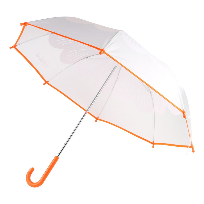 Girls Orange Transparent Umbrella - CÉMAROSE | Children's Fashion Store - 1