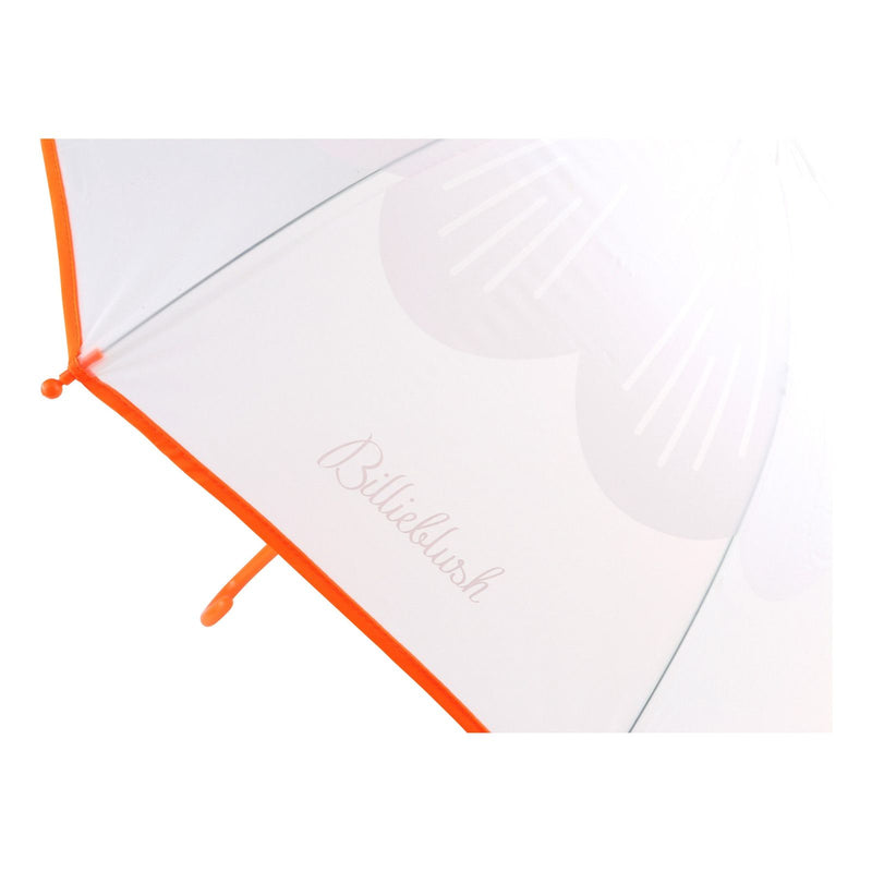 Girls Orange Transparent Umbrella - CÉMAROSE | Children's Fashion Store - 2