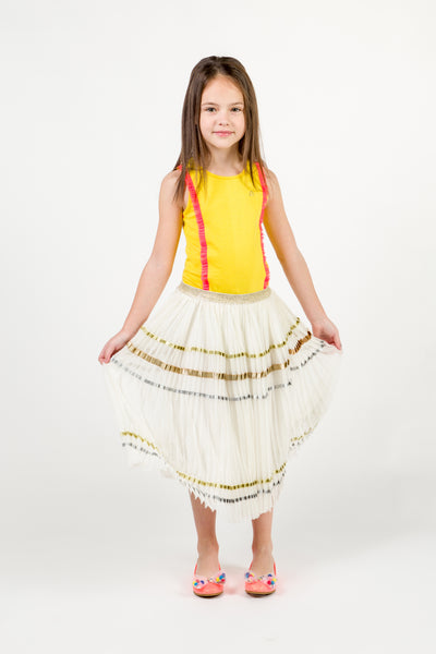 Girls Rice White Skirt