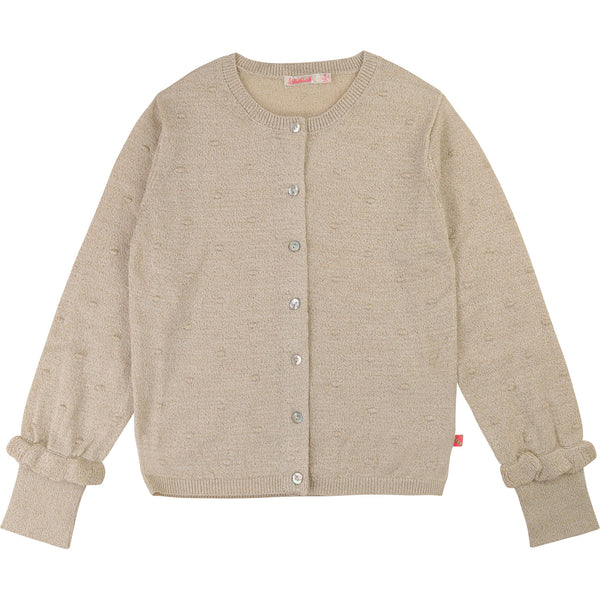 Girls Khaki Cardigan
