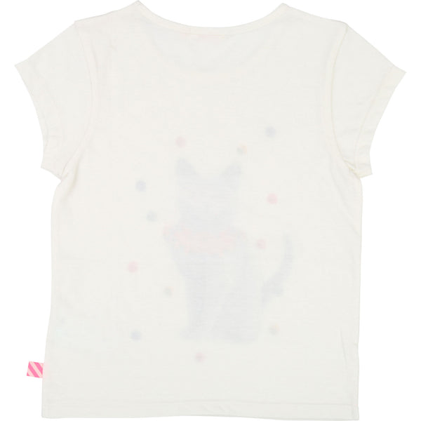 Girls Rice White Cat T-shirt