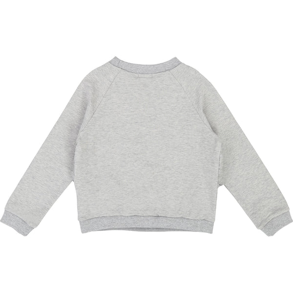 Girls Gray Cotton Sweater
