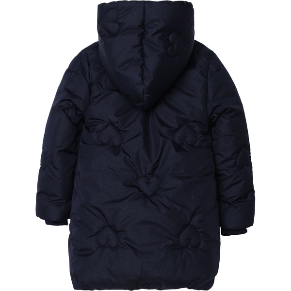 Girls Indigo Blue Padded Coat