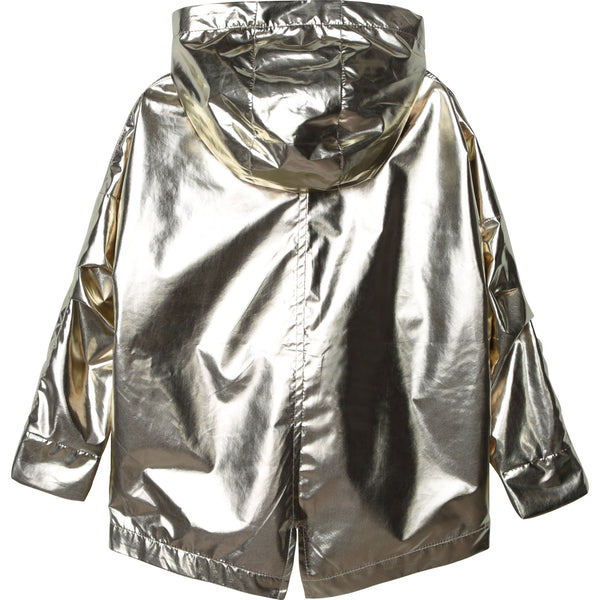 Girls Metal Texture Coat