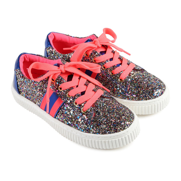 Girls Pink Glitter Shoes