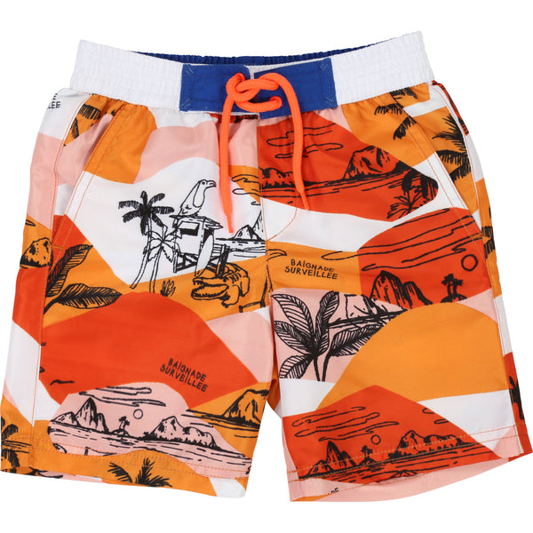 Boys Orange Beach Shorts