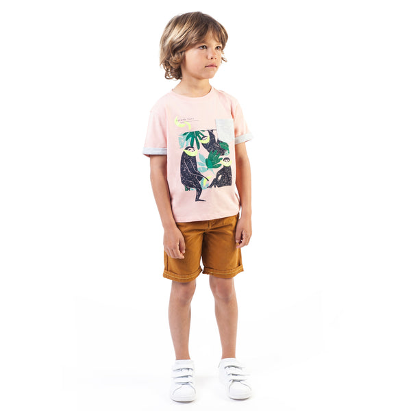 Boys Khaki Cotton Shorts