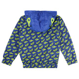 Boys Blue Leopard Jacket with Yellow Mask