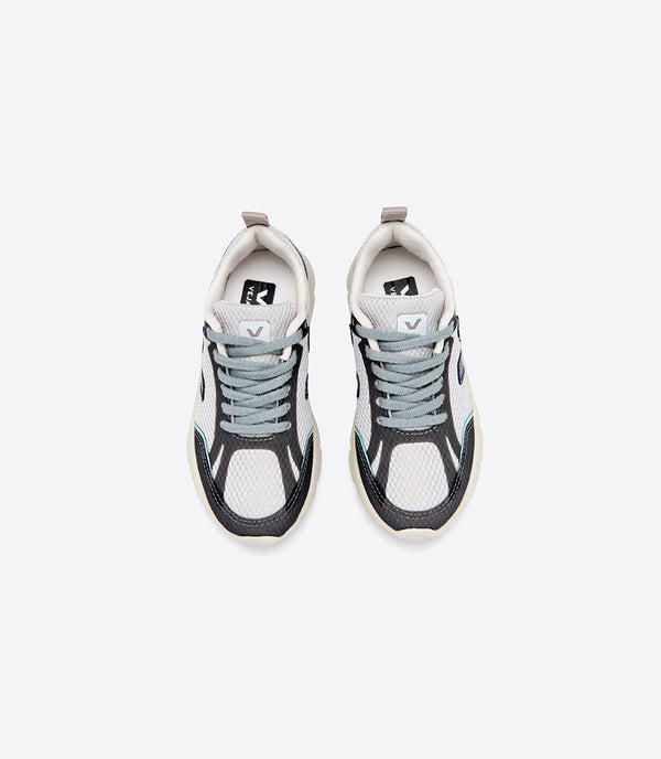 "Boys Grey ""V"" Logo Shoes"