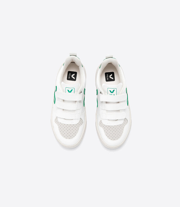 "Boys & Girls White ""V-10"" Velcro Shoes"