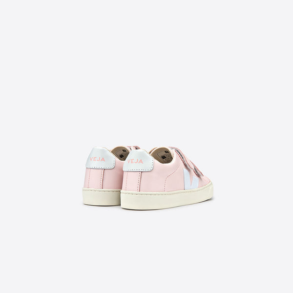 "Baby Girls Pink & White ""V"" Shoes"