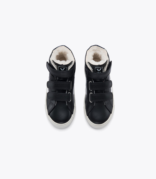 "Baby Boys & Girls Black ""ESPLAR MID"" Leather Shoes"