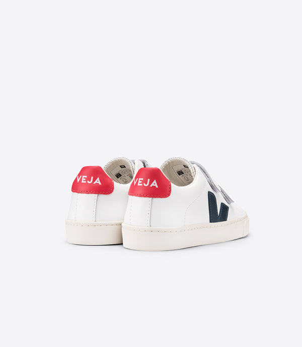 "Boys White ""Esplar"" Velcro Leather Shoes"