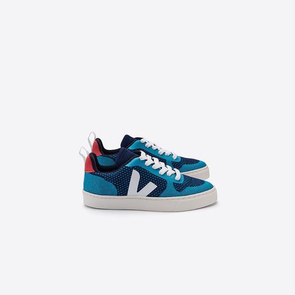 "Boys Blue & White ""V"" Shoes"