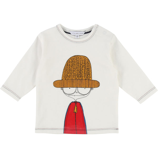 Baby Boys Off White Cotton T-shirt