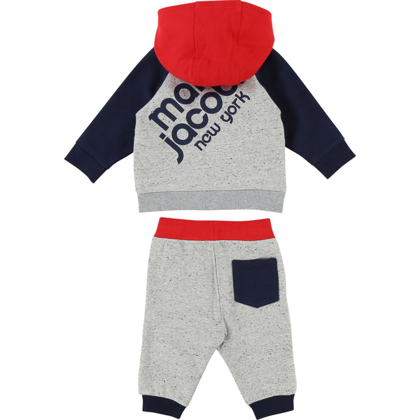 Baby Boys Grey Blue Cotton Ensemble Jogging