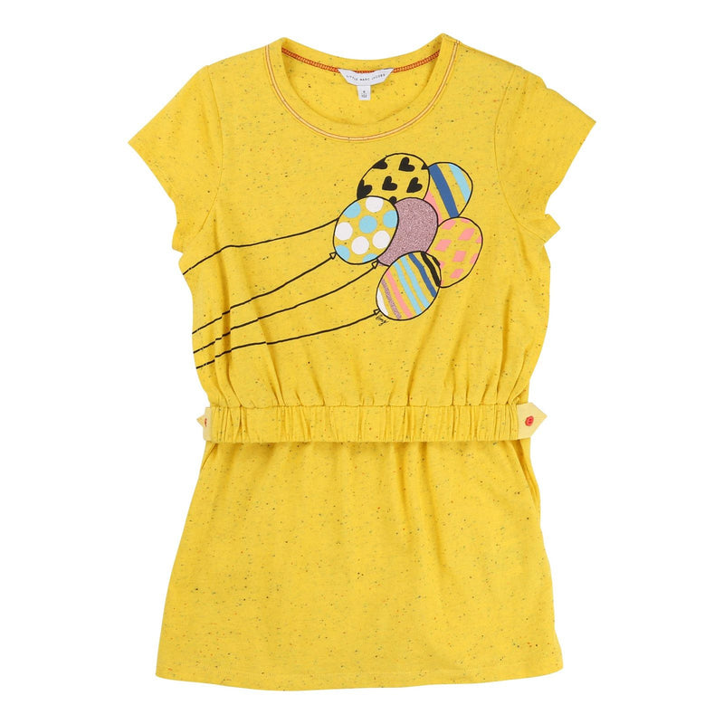 Girls Yellow Cotton Fancy Illustration Printed Fleece Dress - CÉMAROSE | Children's Fashion Store