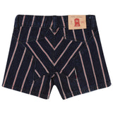 Girls Blue Denim & Red Stripe Shorts - CÉMAROSE | Children's Fashion Store - 2