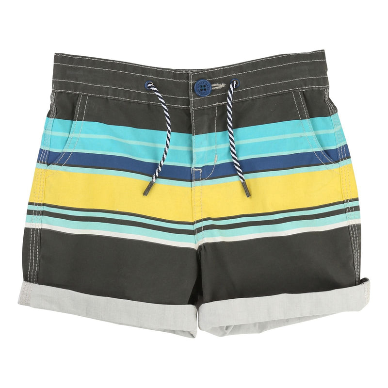 Boys Multicolor Stripe Strape Cotton Jersey Shorts - CÉMAROSE | Children's Fashion Store