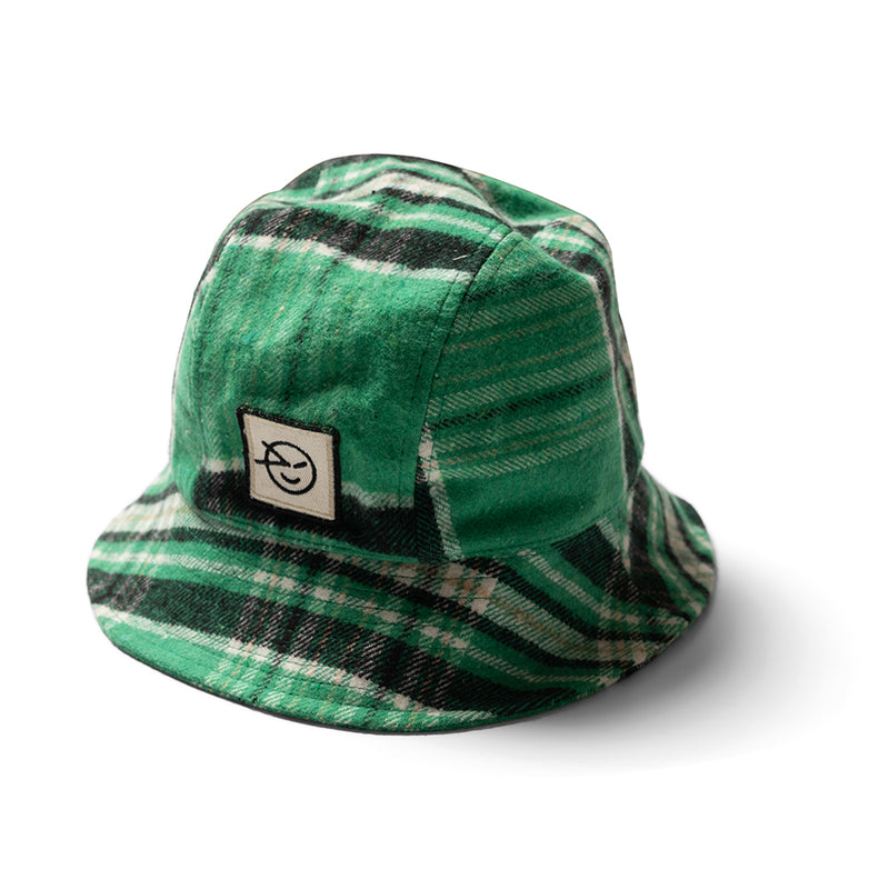 Boys & Girls Fiesta Green Plaid Cotton Bucket Hat