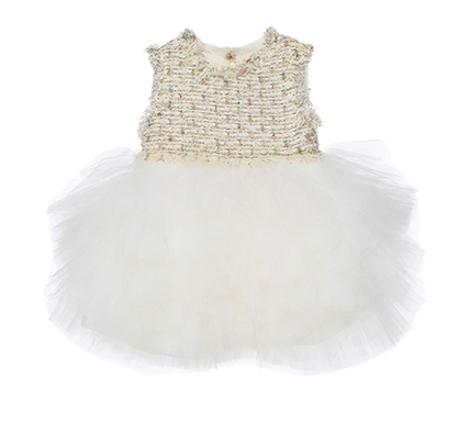 Baby Girls White 'The cupid fell' Dress