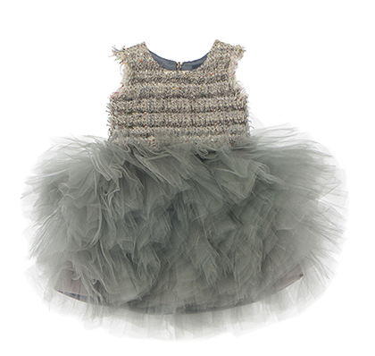 Baby Girls Grey 'The cupid fell' Dress