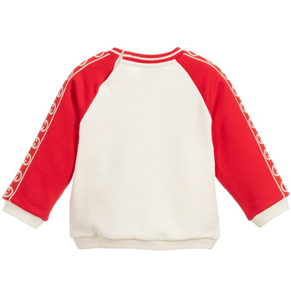 Baby Boys & Girls White Cotton Sweatshirt