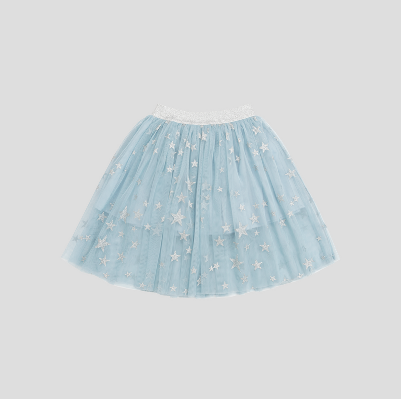 Girls Silver Stars Tulle Skirt