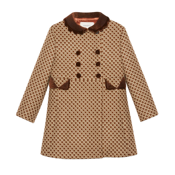 Girls Brown GG Coat