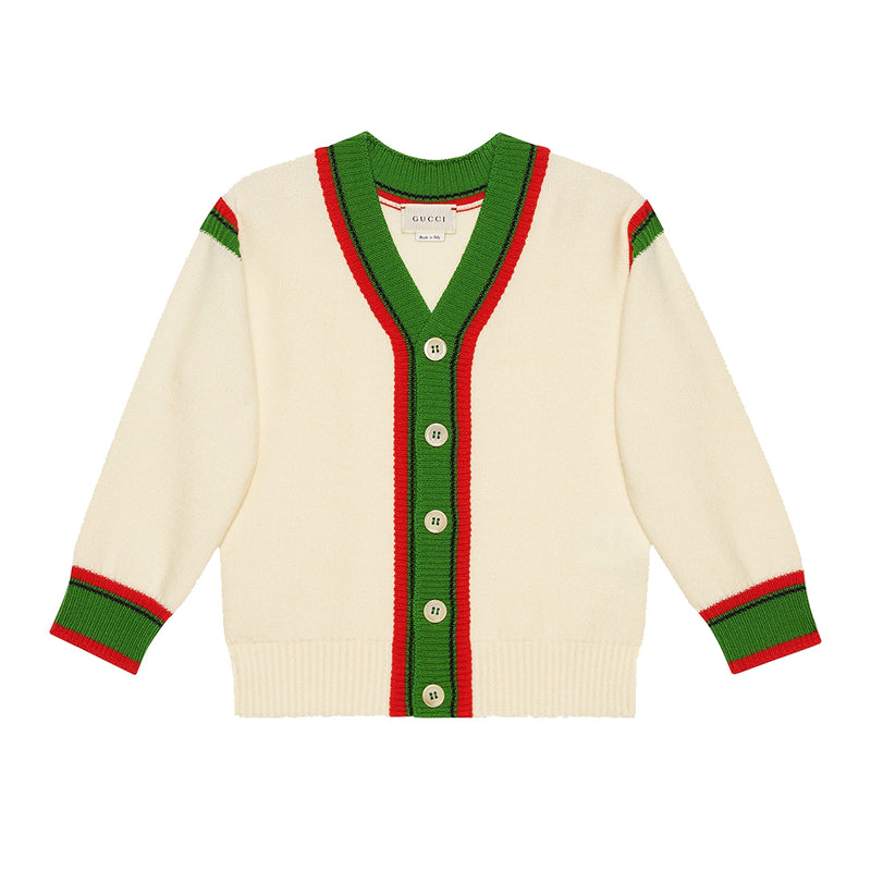 Boys & Girls Milk Wool Cardigan
