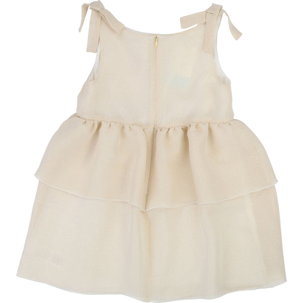 Girls Ecru Condole Belt Dress