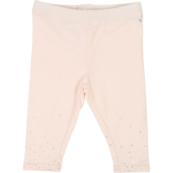 Baby Girls Light Pink Cotton Trousers