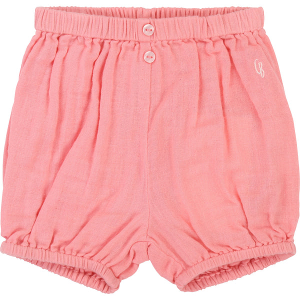 Baby Girls Pink Cotton Bloomers