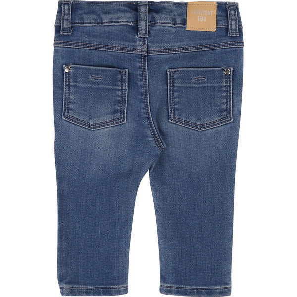 Baby Girls Blue Denim Trousers