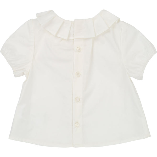 Baby Girls Rice White Cotton Top