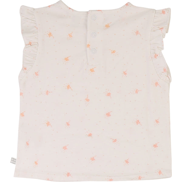 Baby Girls Off-white Cotton T-shirt