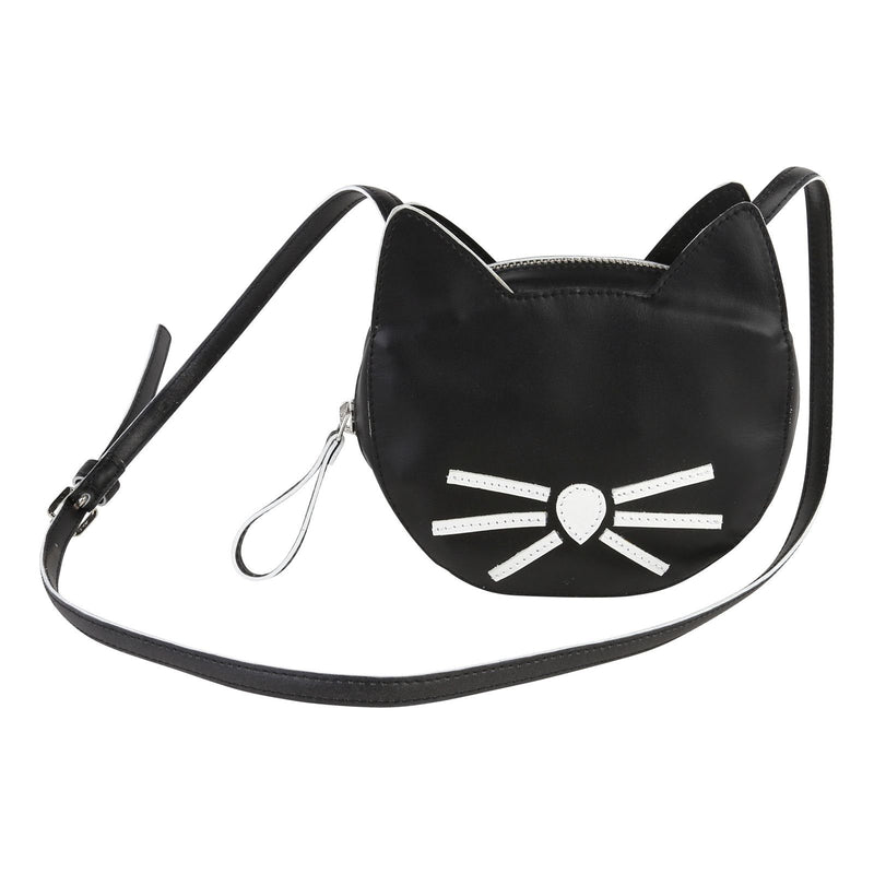 Girls Black Cat Head Style Bag - CÉMAROSE | Children's Fashion Store - 1